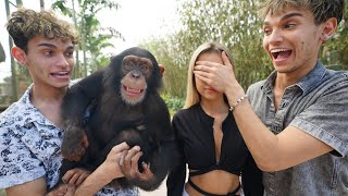 SURPRISING MY GIRLFRIEND WITH A MONKEY!