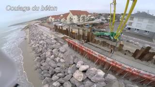 Étapes de la reconstruction de la digue de Wissant