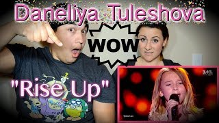 Daneliya Tuleshova Rise up Voice Kids| COUPLES REACTION