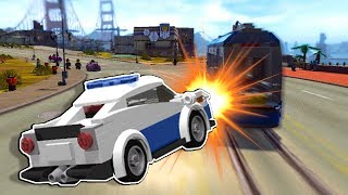 Lego Police Officer has HIGH SPEED Pursuit after Robber! - Lego City Undercover 100% Gameplay