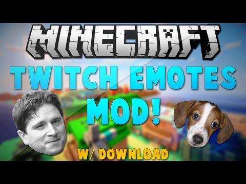 Minecraft 1.8: Twitch Emotes Mod Review + How To Install w/ Download!
