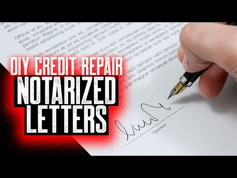 NOTARIZED LETTERS ARE THEY IMPORTANT? || CREDIT REPAIR FAQS || FIX MY CREDIT FAST