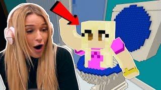 Minecraft: NOOB PLAYS HER FIRST MINECRAFT MAP!