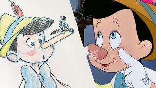 How To Draw Pinocchio | Quick Draw | Disney LIVE