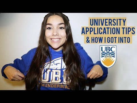 UNIVERSITY/COLLEGE APPLICATION TIPS + HOW I GOT INTO UBC || My Grades, Written Responses