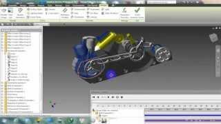 Video Mô phỏng động cơ 2 kỳ Inventor