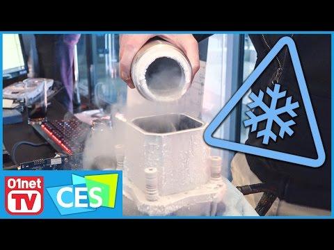 Intel Kaby Lake : quand un pro de l'overclocking le refroidit à l'azote - CES 2017