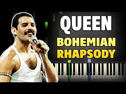 Queen - Bohemian Rhapsody Piano Tutorial (Sheet Music + midi)