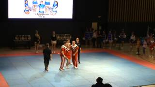 preview picture of video 'Чемпионат Караганды 2014 - Tetcheer - Stunts Juniors / Станты юниоры'