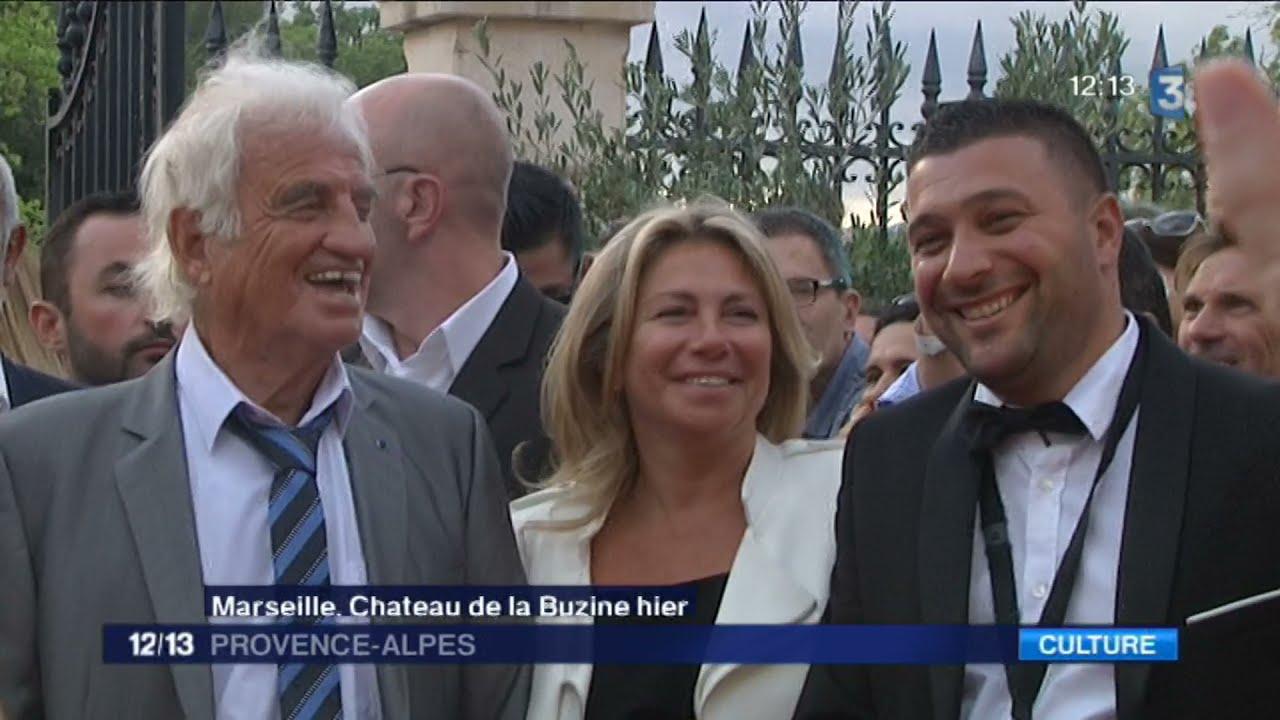 2017/Jean-Paul Belmondo au vernissage de l'exposition qui lui est consacrée au château de la Buzine