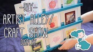 DIY Artist Alley Or Craft Show Display Shelf