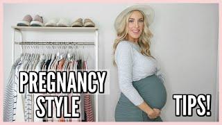 PREGNANCY STYLE TIPS! DRESSING CUTE WHILE PREGNANT | OLIVIA ZAPO