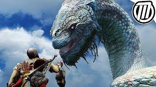 God of War 4: ALL World Serpent Cutscenes 4K (Jörmungandr, Giant Snake)