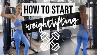 HOW TO START WEIGHTLIFTING/STRENGTH TRAINING FOR WOMEN //  get rid of your gym fears!