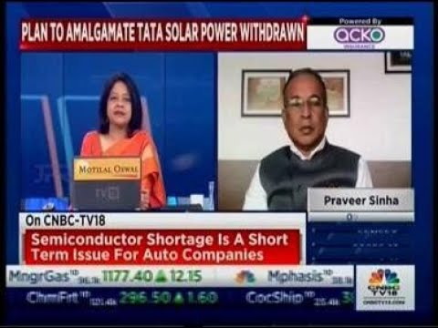 Interview of Dr. Praveer Sinha, CEO & MD Tata Power with CNBC TV18 to discuss FY22 Outlook