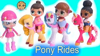 LOL Surprise Horse Ride with Happy Places Shopkins Shoppies + Blind Bags
