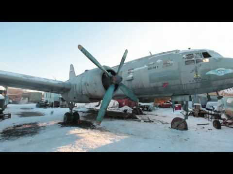 Ил-14Т «Голубая мечта». Запуск правого мотора видео