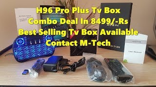 H96 Pro Plus Android Tv Box Combo Deal Review |URDU|HINDI| M-Tech