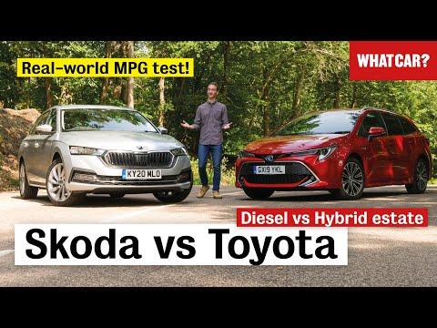 Skoda Octavia Estate vs Toyota Corolla Touring Sports review – diesel or hybrid?  | What Car?