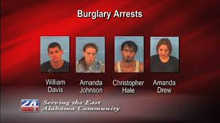 Four People Arrested for Burglary