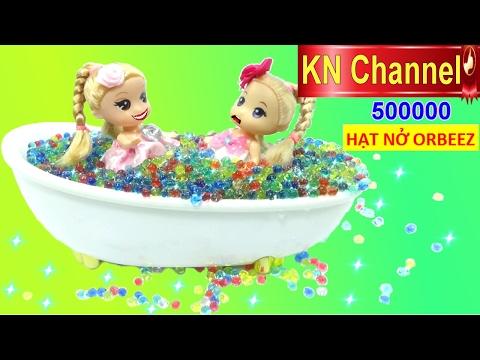 Hình ảnh Youtube -  Đồ chơi 500,000 HẠT NỞ MESSY ORBEEZ POOL Ngôi nhà búp bê & phòng tắm búp bê chibi