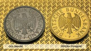 preview picture of video 'Goldmark Goldmünze (Deutsche Mark in Gold)'