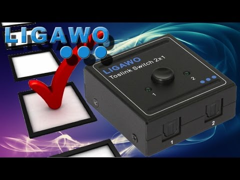 Hardware Check - Ligawo POCKET SPDIF Toslink Umschalter/ Switch 2x1