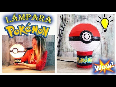 Manualidades fáciles para niños Lámpara pokemon Cómo hacer una lampara