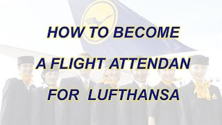 How to become a flight attendant for Lufthansa