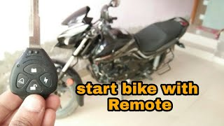 how to install anti theft security alarm in bike| start your bike with remote key| hero passion xpro