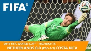 NETHERLANDS v COSTA RICA (0:0 PSO 4:3) - 2014 FIFA World Cup™
