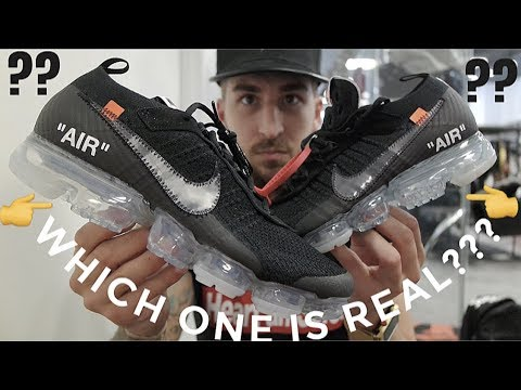 THIS IS CRAZY!!!THESE ARE EXACT COPIES!! OFF-WHITE VAPORMAX REAL VS FAKE!!!WATCH BEFORE YOU BUY!!!