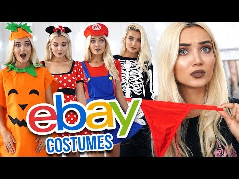 TRYING ON EBAY HALLOWEEN COSTUMES UNDER £10! 🎃