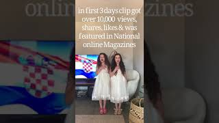 Behind The Scenes : Filming Chloii & Kaleesi sing Croatian National Anthem