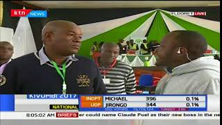 Soi MP Caleb Kositany gives an update of vote tally in Eldoret