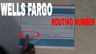 ✅  What Is Wells Fargo Routing Number 🔴