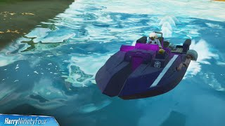Ride a Motorboat Under Different Colored Steel Bridges All Locations - Fortnite