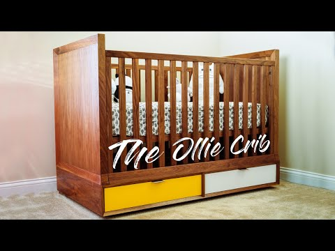 DIY Mid Century Modern Baby Crib    How To Build - Woodworking