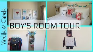 BOYS ROOM TOUR/MAKEOVER ON A TIGHT BUDGET/DECOR & ORGANISATION 2017