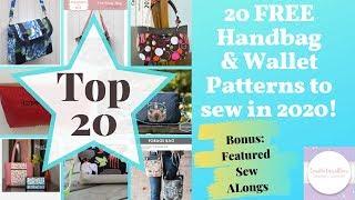 [363]TOP 20 FREE Handbag & Wallet Patterns To Sew In 2020! #freehandbagpatterns #freewalletpatterns