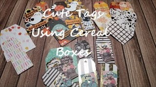 🎁🎁 Cute Tags Using Cereal Boxes 🎁🎁