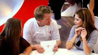 Cheryl Cole and Kimberley Walsh visit the Chef - Gordon Ramsay