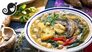 Kat-Kat Manioc — Mauritian Cassava (Yucca) Stew/Soup   Vegan/Vegetarian Recipe