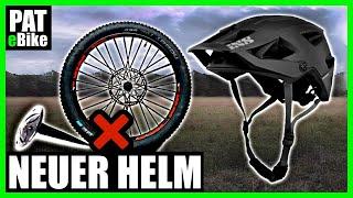 Neuer E- Bike Helm + Platter Reifen   PAT
