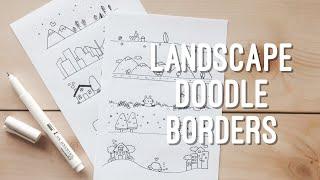 10 Simple Landscape Doodle Borders | Doodle With Me