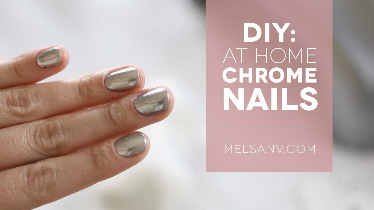 DIY: At Home Chrome Nails | Mirano Chroma Pigment