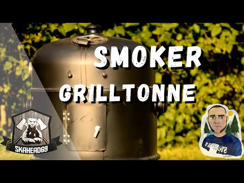 Günstiger Smoker / Räuchergrill Grilltonne / Watersmoker Review