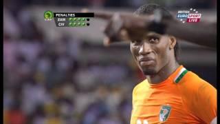 Zambia VS Ivory coast, Final 2012 ALL PENALTY KICKS