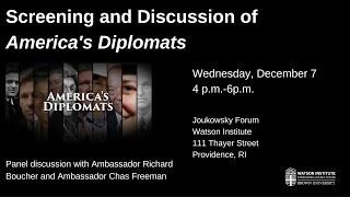 America's Diplomats: Panel Discussion