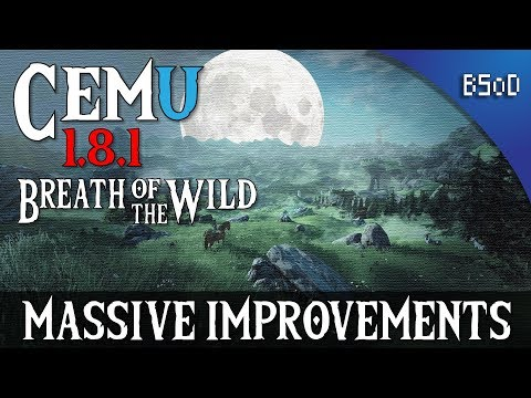 Cemu 1,8,1 Breath of the Wild at 4K | Massive  Improvements | Emulation Comparison